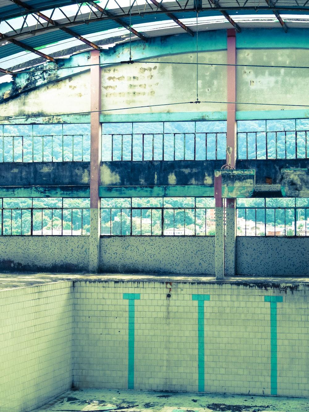 empty diving pool