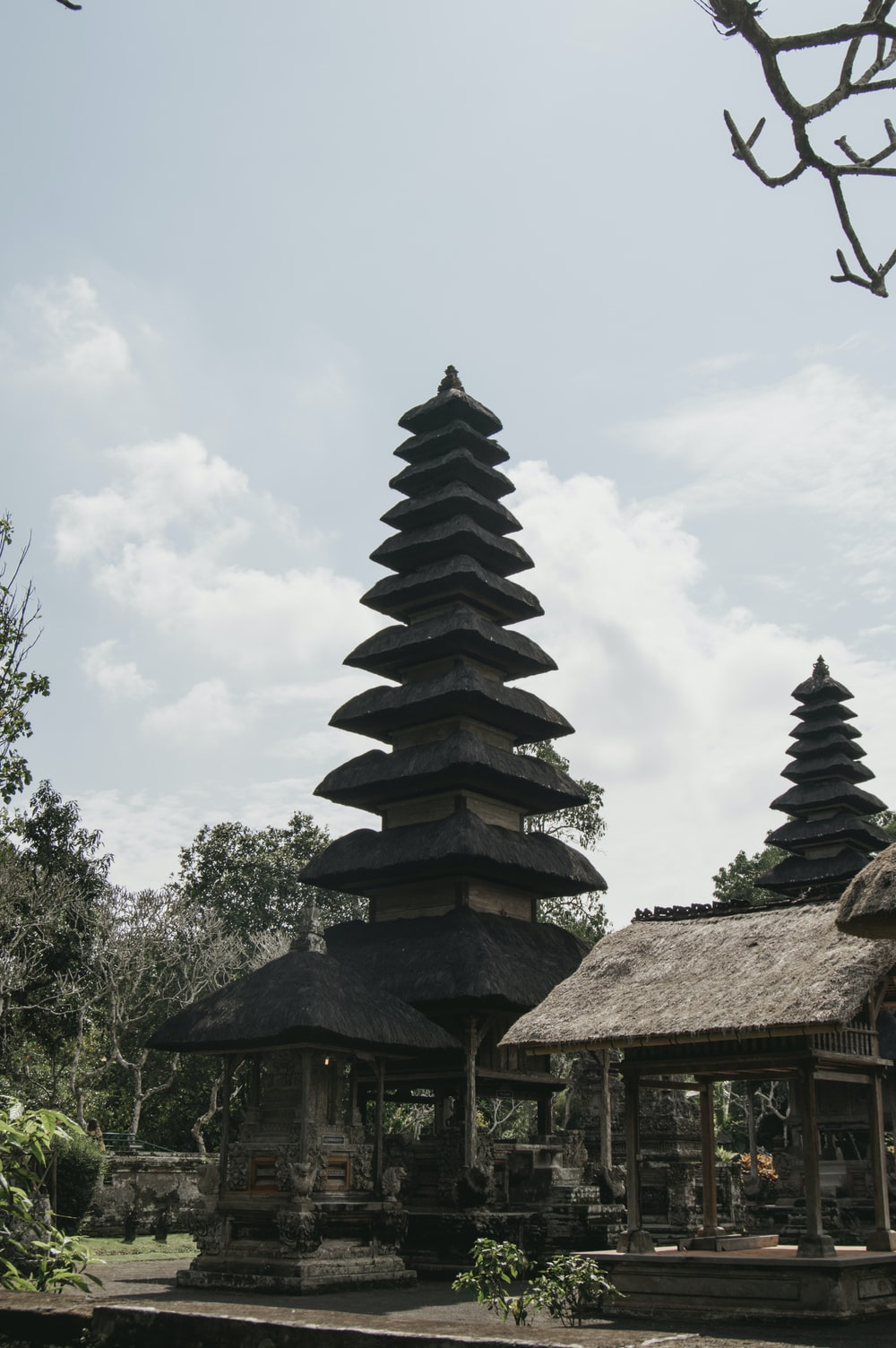 brown and black tower temple