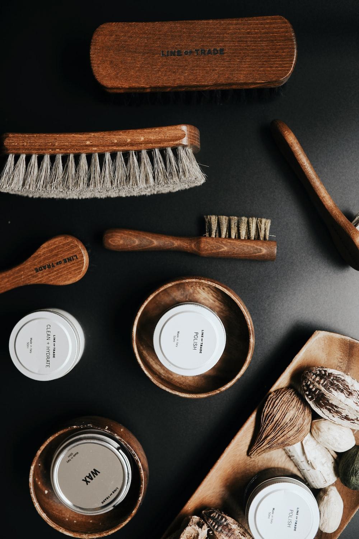 brown and gray brush