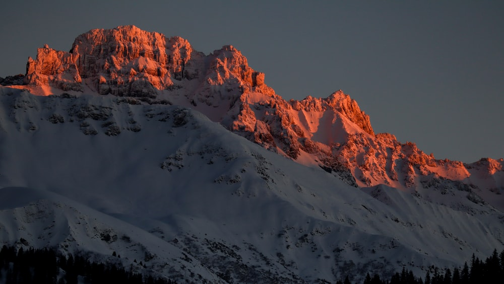 photography of snow-capped mountain