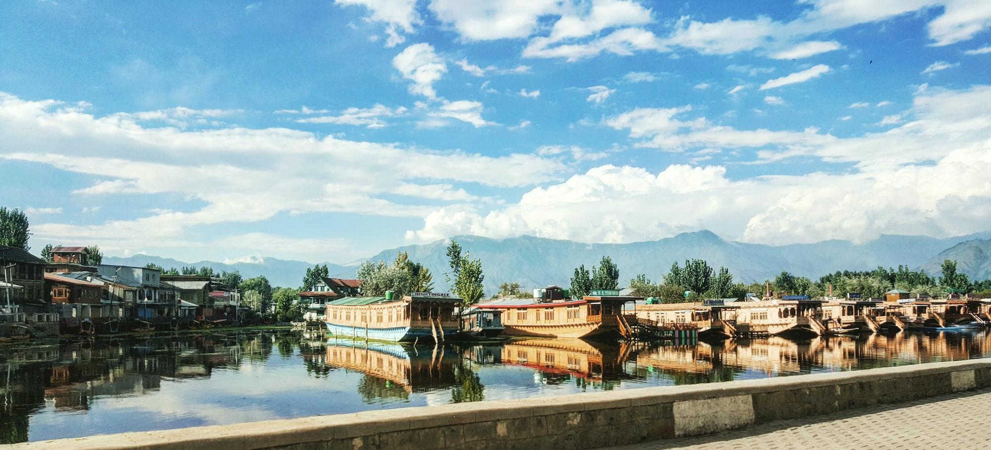 Dal Lake reflection in Srinagar (Kashmir) 🇮🇳