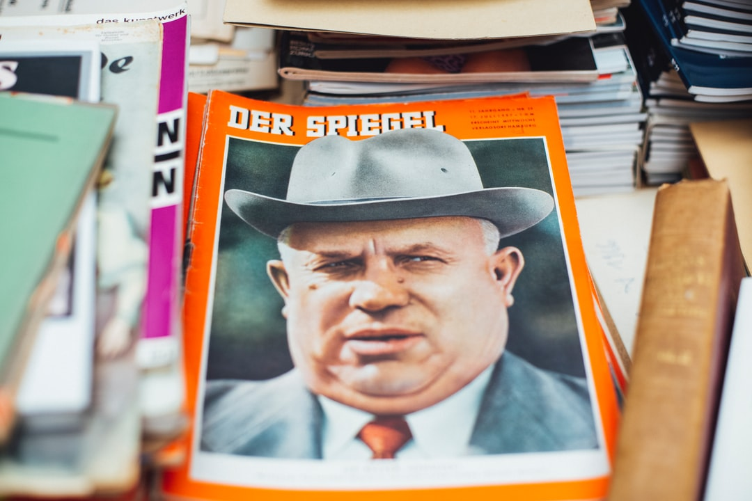 DER SPIEGEL Nr. 29, Original historical newspaper magazin from 17. July 1957 - 23. July 1957. Titel cover photo: party head Nikita Chruschtschow  Titelstory: Better live comrade. Made with Canon 5d Mark III and vintage analog lens Leica Summilux-R 1.4 50mm.