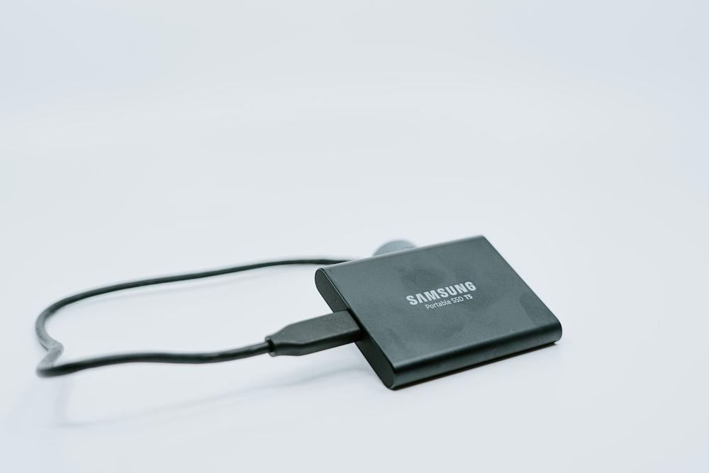 black Samsung power bank