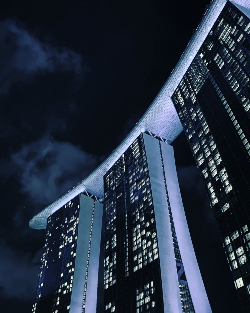 Marina bay,Singapore during nighttime
