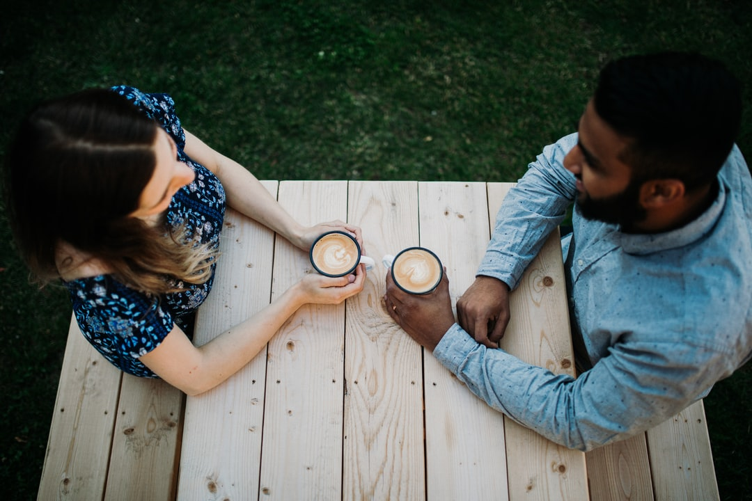 Coffee, Married, Date, Girl Meets Boy, Wood, Coffee Date, Latte, Cappuccino - unsplash
