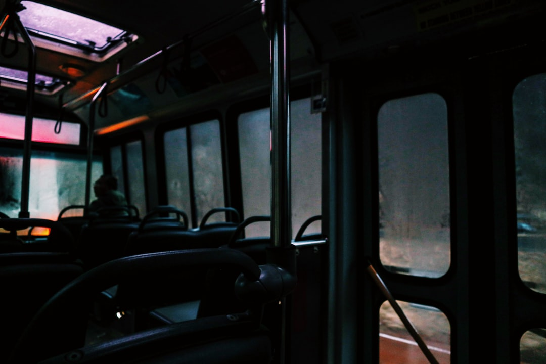 The inside of a tour shuttle on a rainy day in Zion // Follow my Instagram: @sairaphotography