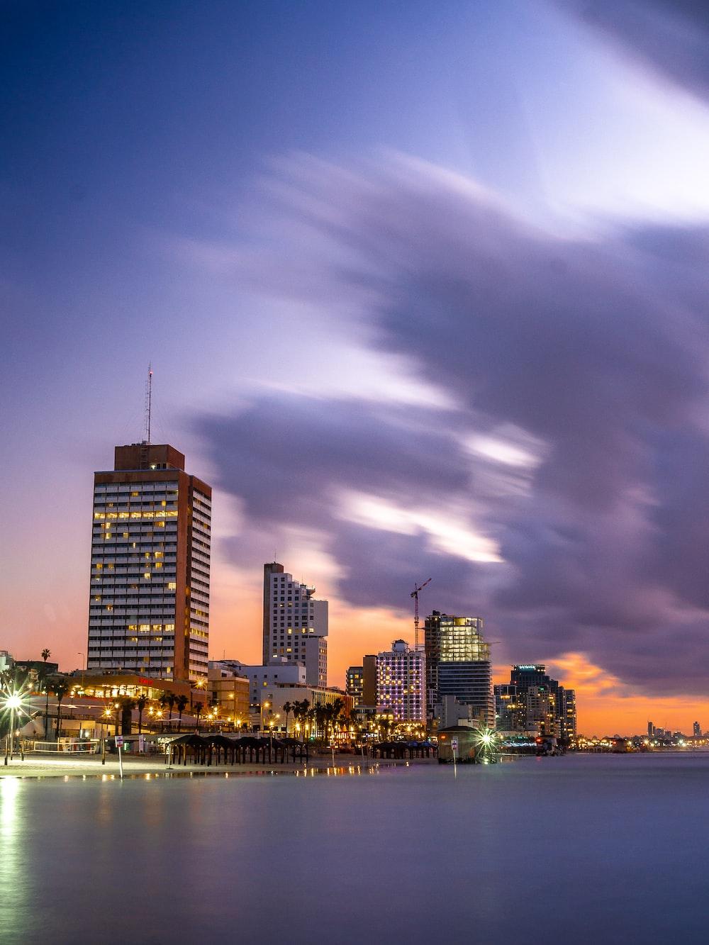 landscape cityscape photography during golden hour