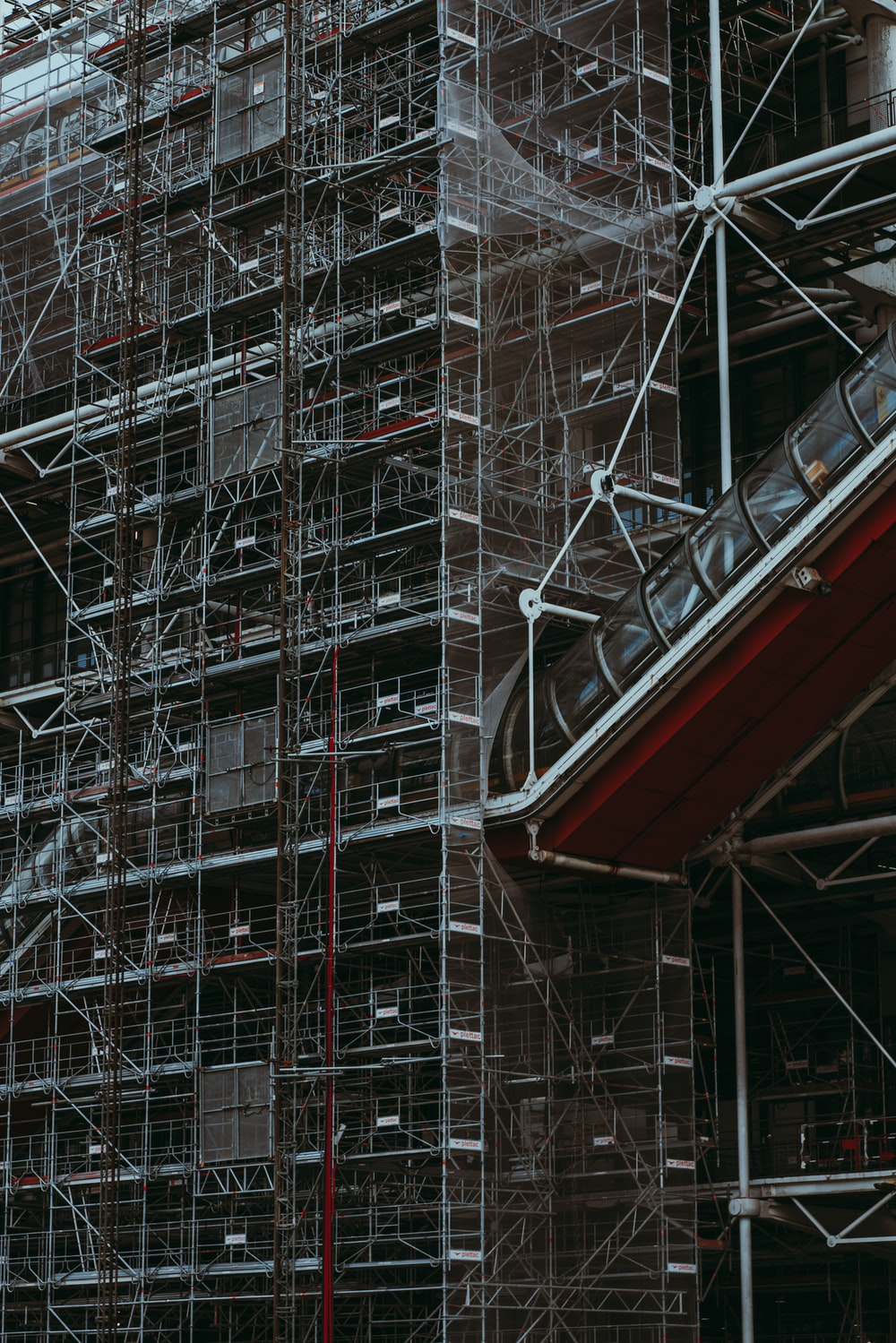 low-angle photography of Pompidou Centre in Paris