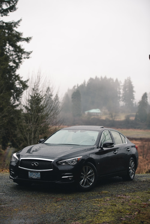 black Infiniti sedan