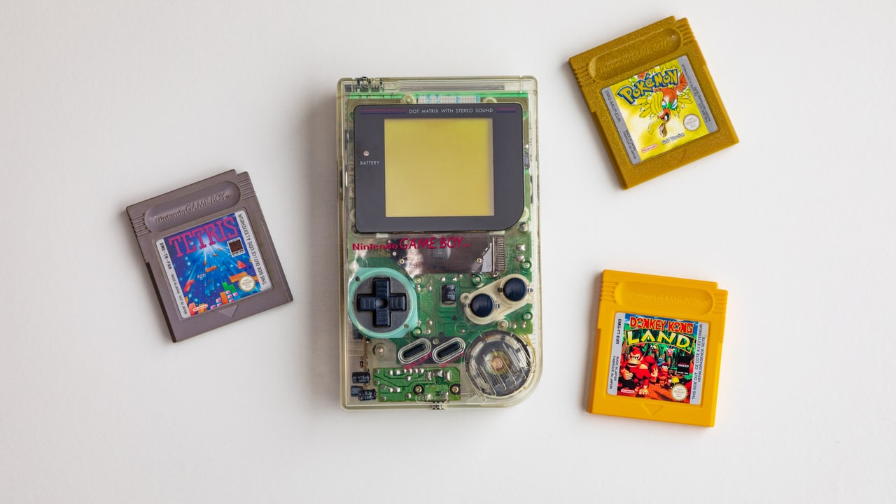 Image of clear Gameboy