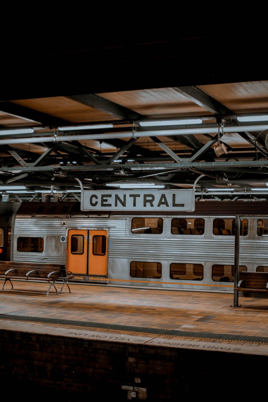 shallow focus photo of gray train