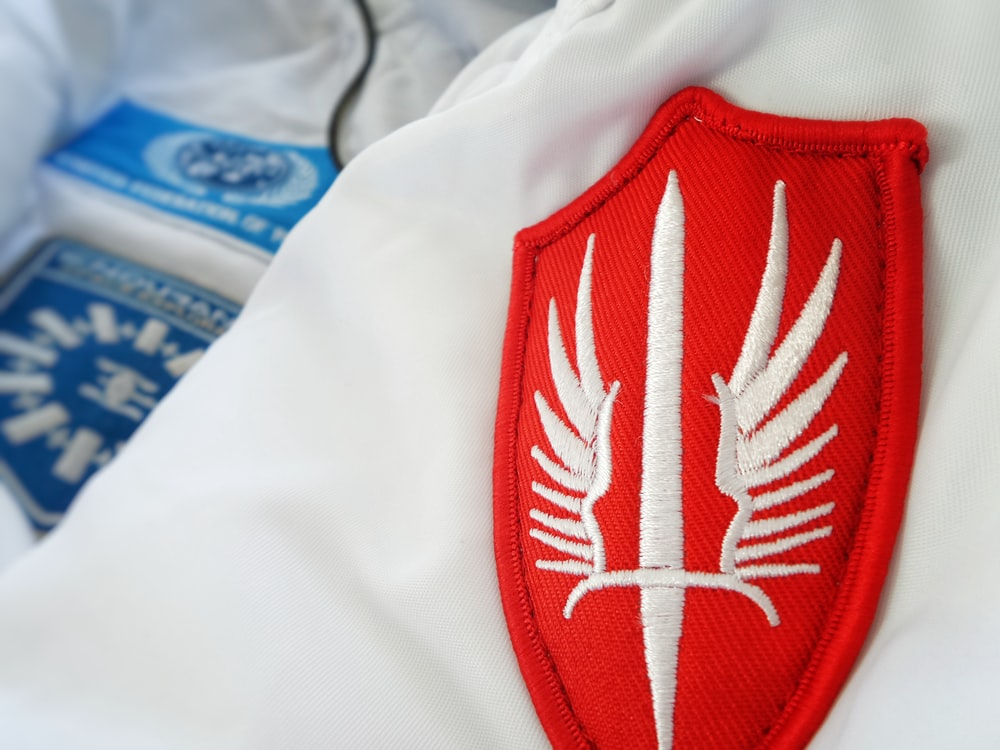 red winged-sword patch