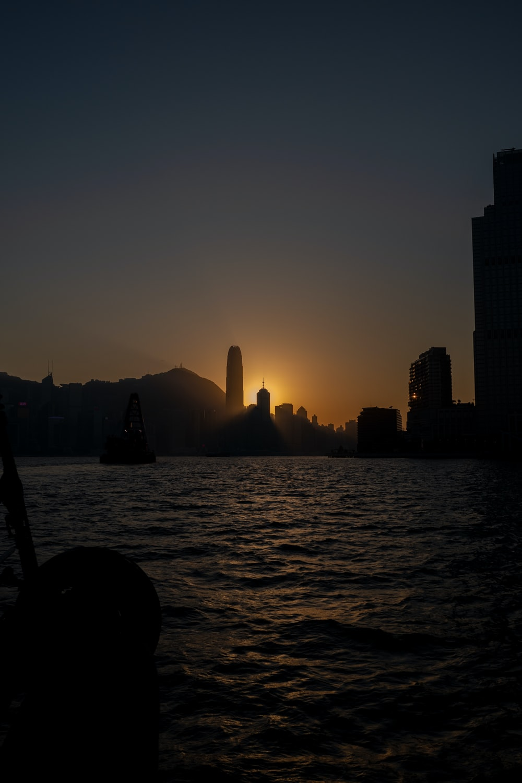 high-rise buildings facing body of water
