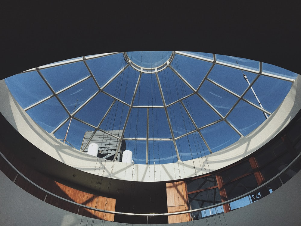 clear glass ceiling