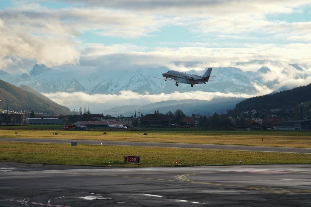 Flugzeug beim Abflug