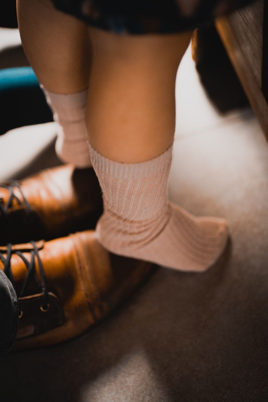 pair of brown socks