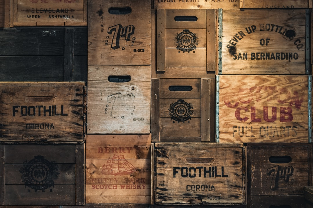 Wall of crates