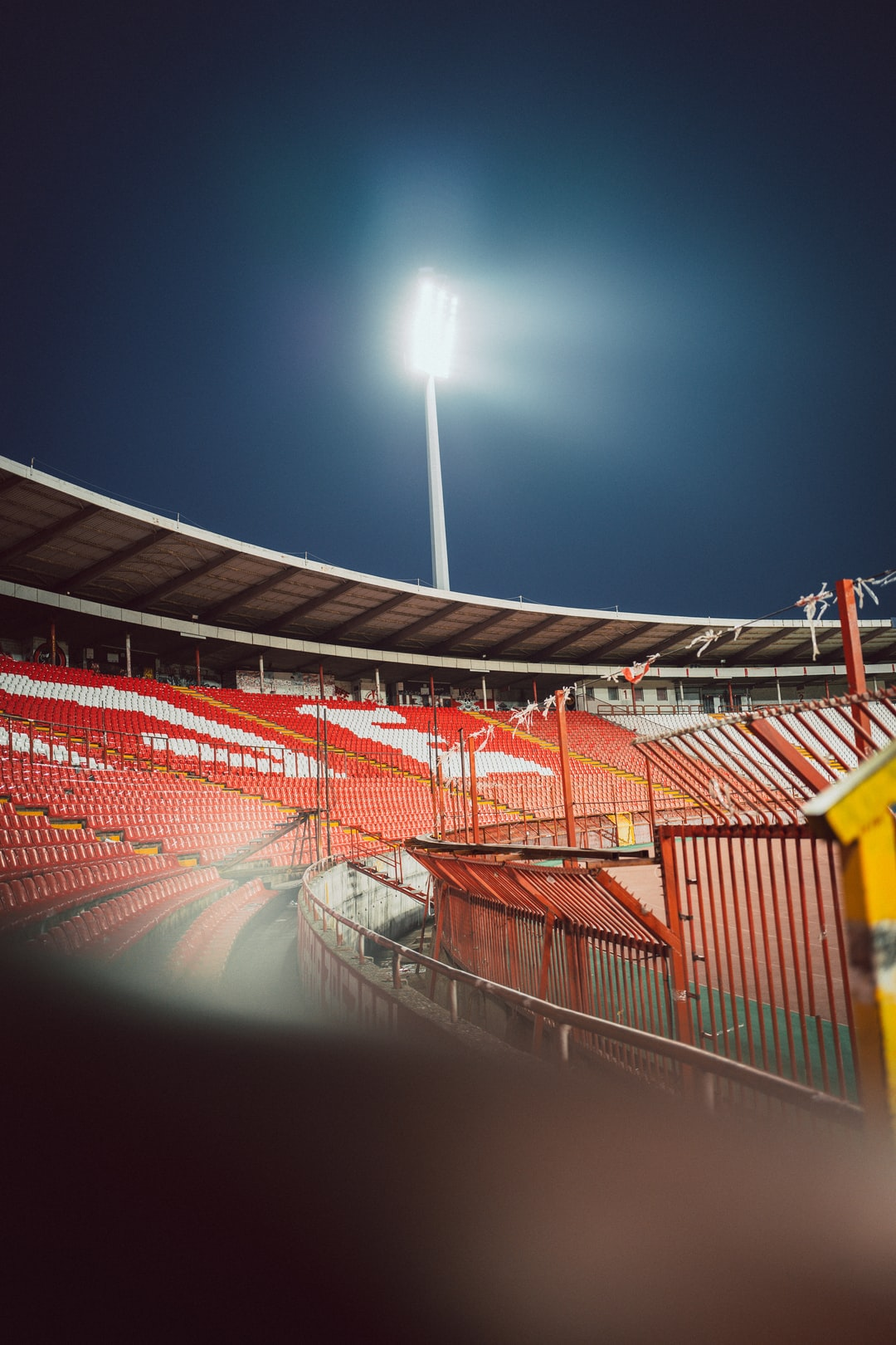 The empty Rajko Mitić Stadium in Belgrade ahead of the Champions League match between Red Star Belgrade and Bayern Munich