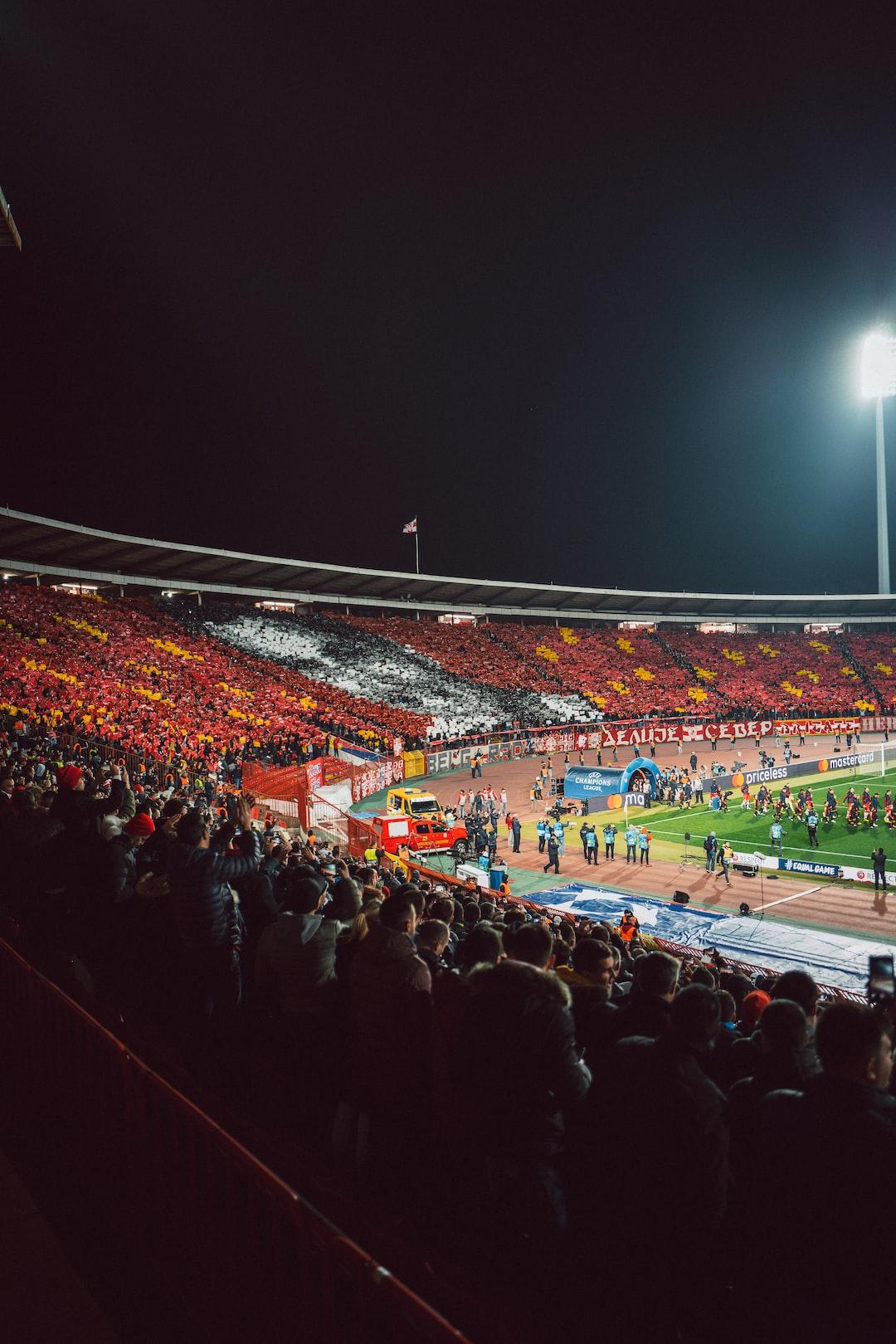 The Rajko Mitić Stadium in Belgrade ahead of the Champions League match between Red Star Belgrade and Bayern Munich