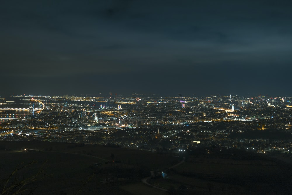 city during night