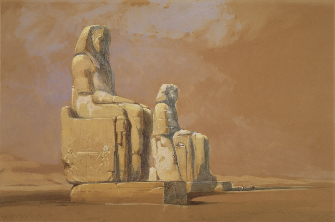 Colossi, Thebes, Egypt, 1838  By David Roberts - unsplash