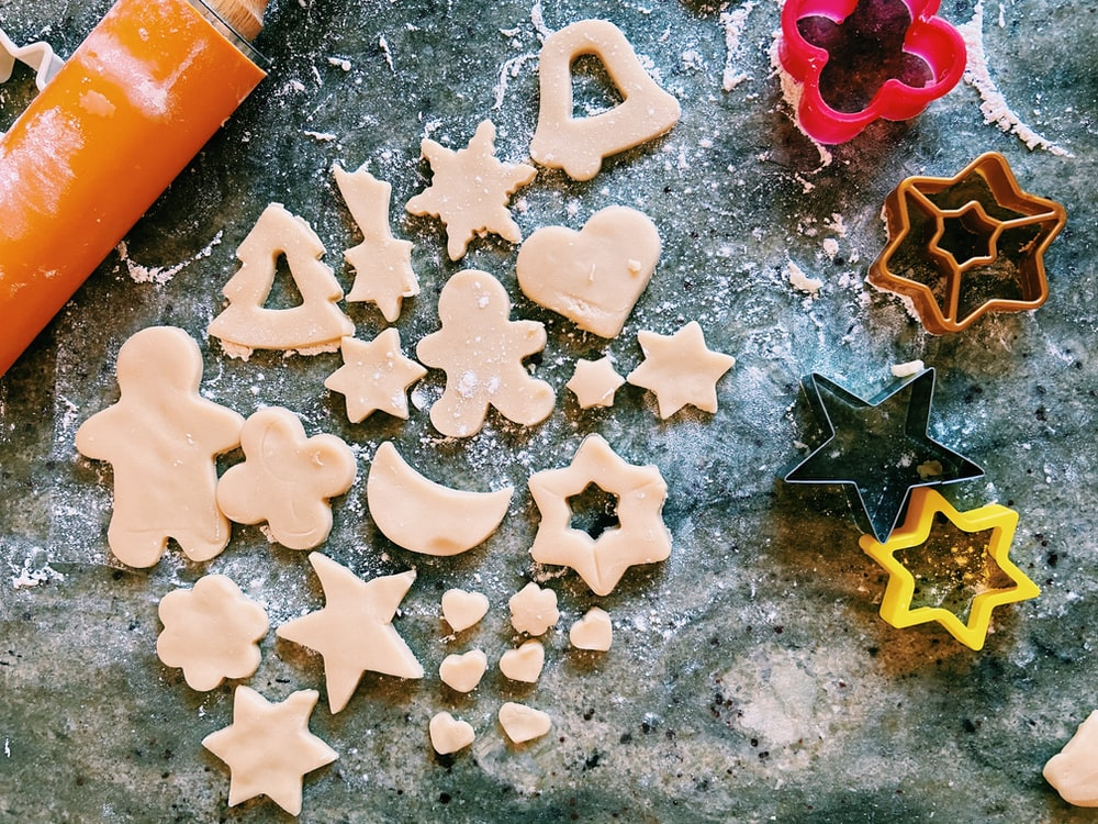 macro photography of different cookie cutters