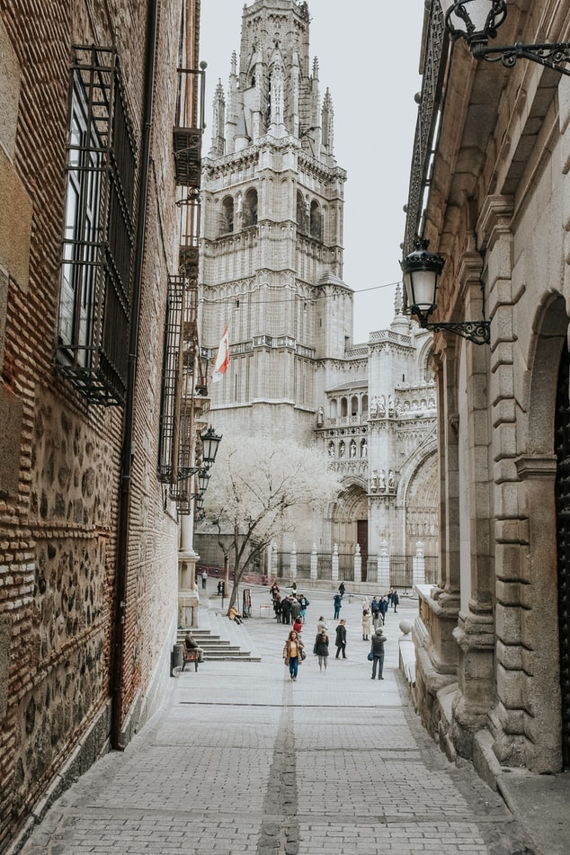 a cathedral in Toledo, Spain