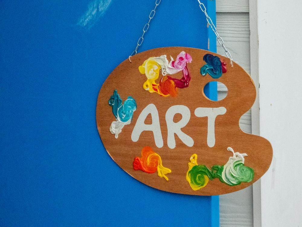 hanging art signage