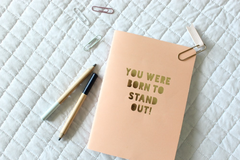 You were born to stand out poster
