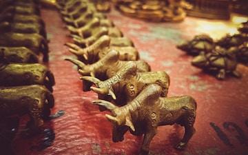 brown animal figurine lot