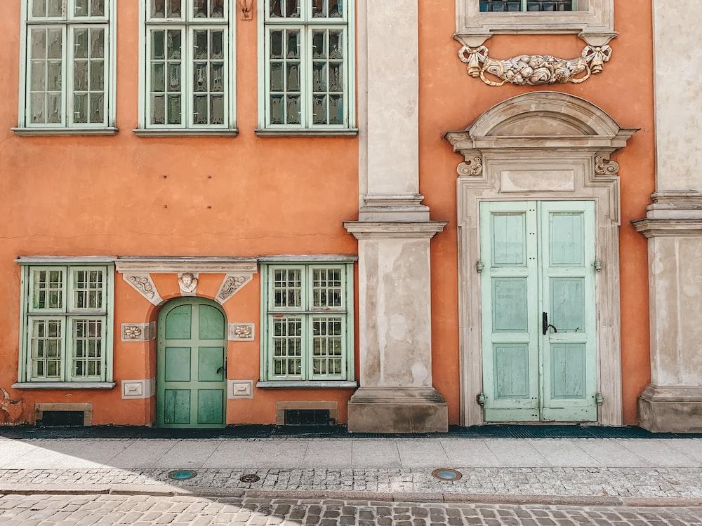 orange and beige building