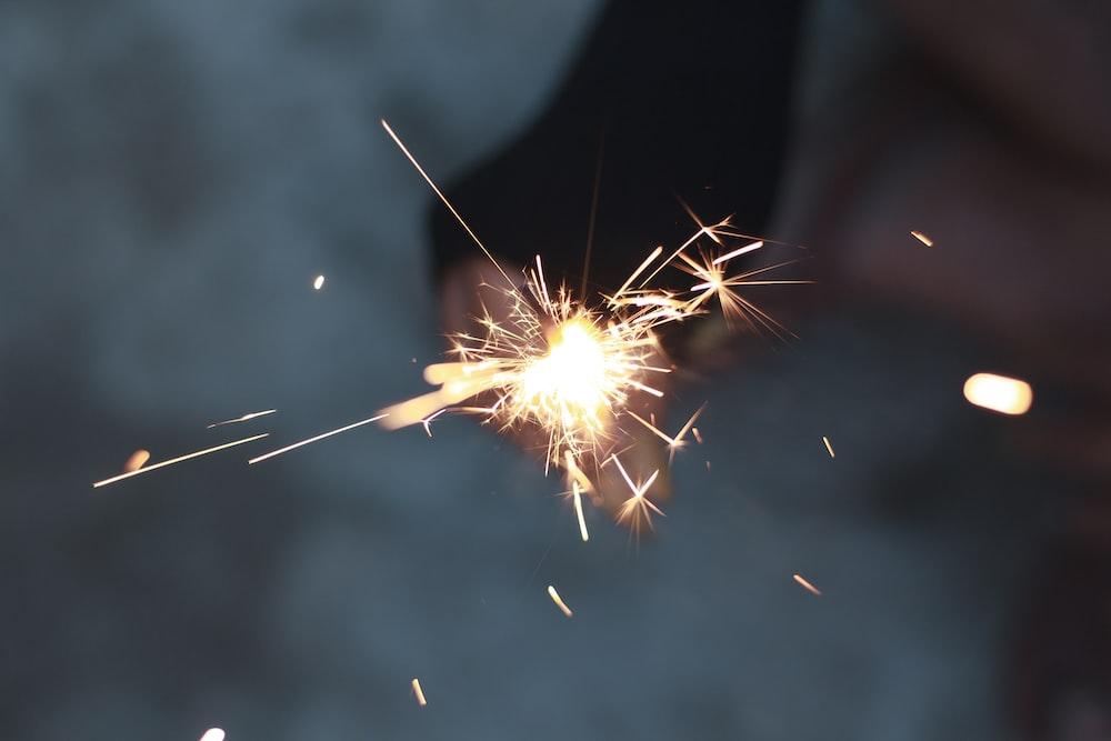 sparking firework
