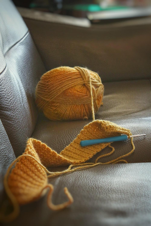 yellow ball yarn