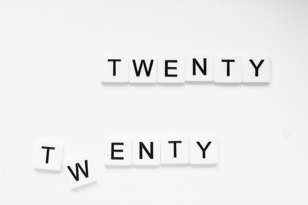white and black twenty dices