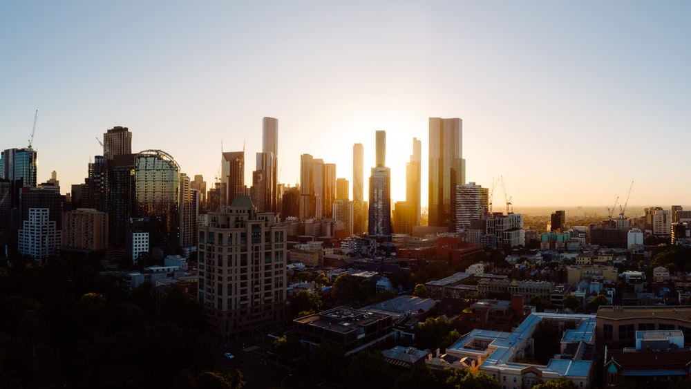 city during golden hour