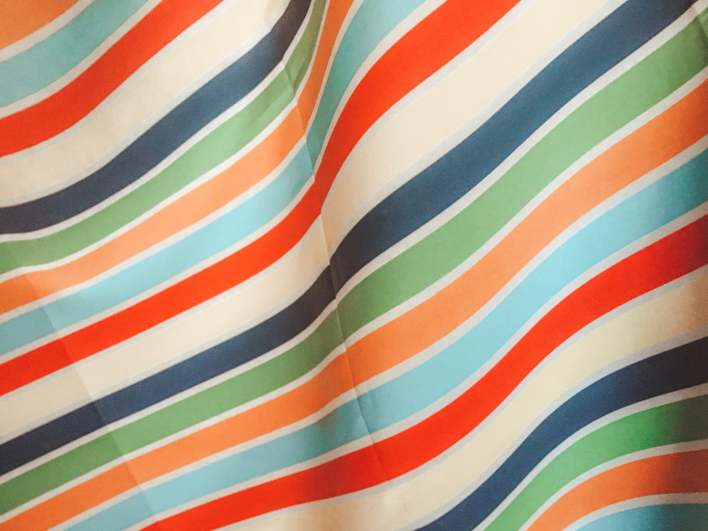multicolored stripe textile