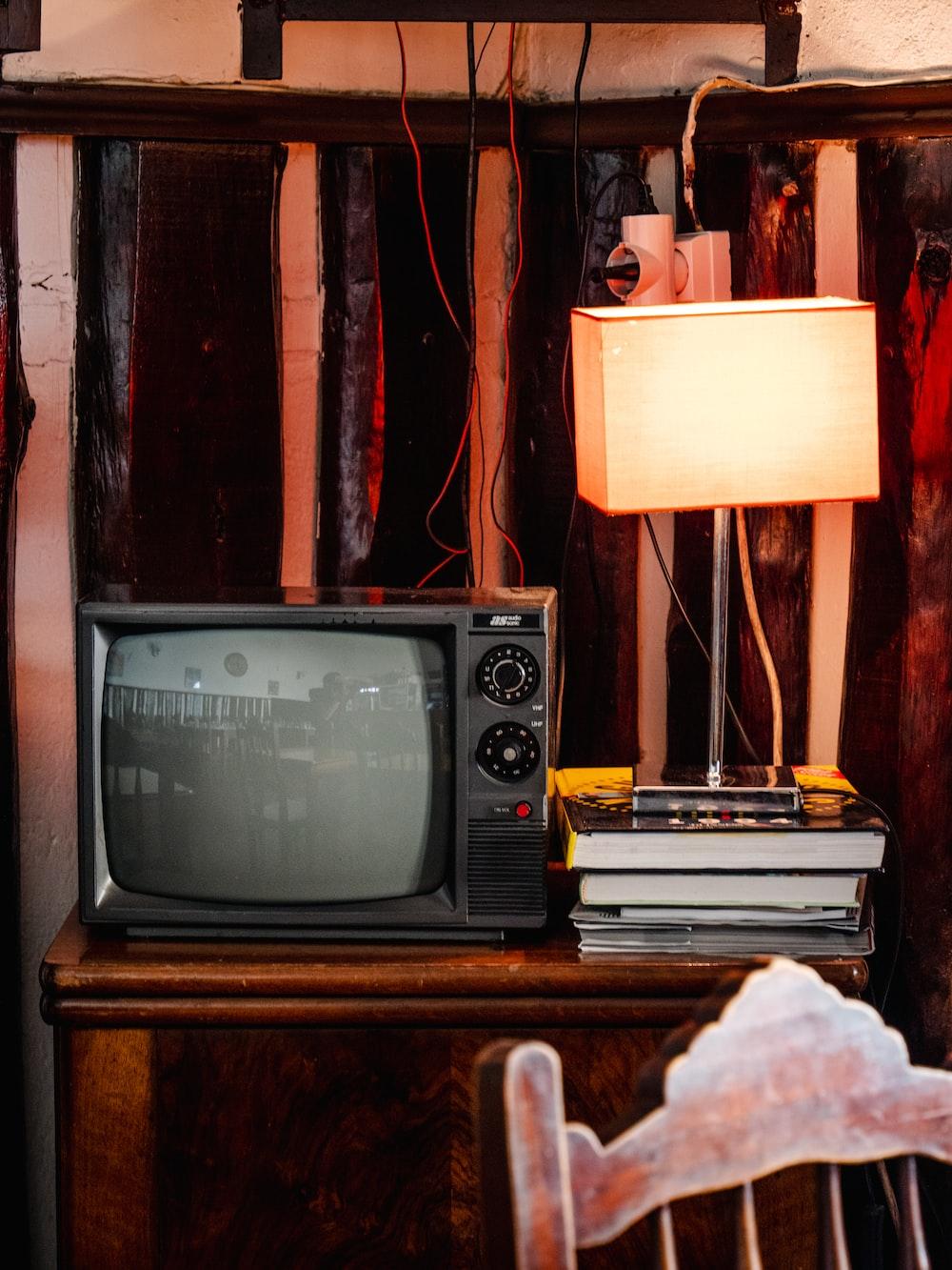 black CRT TV