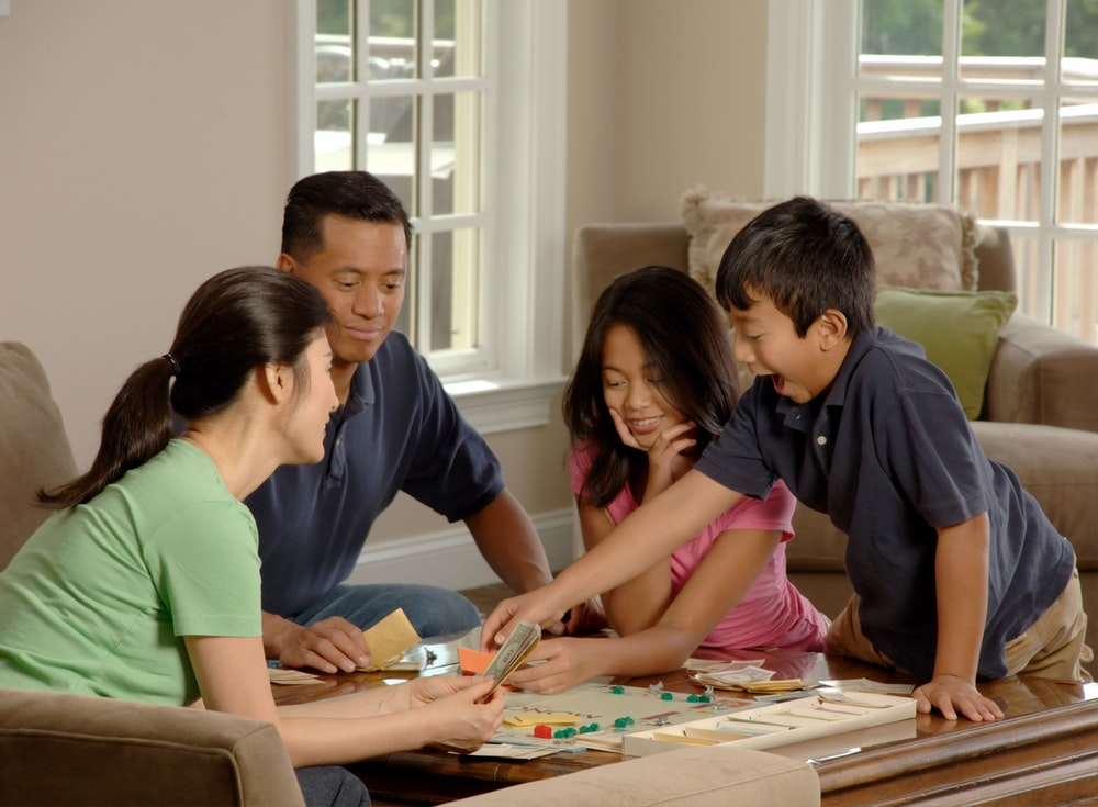 group of people beside coffee table