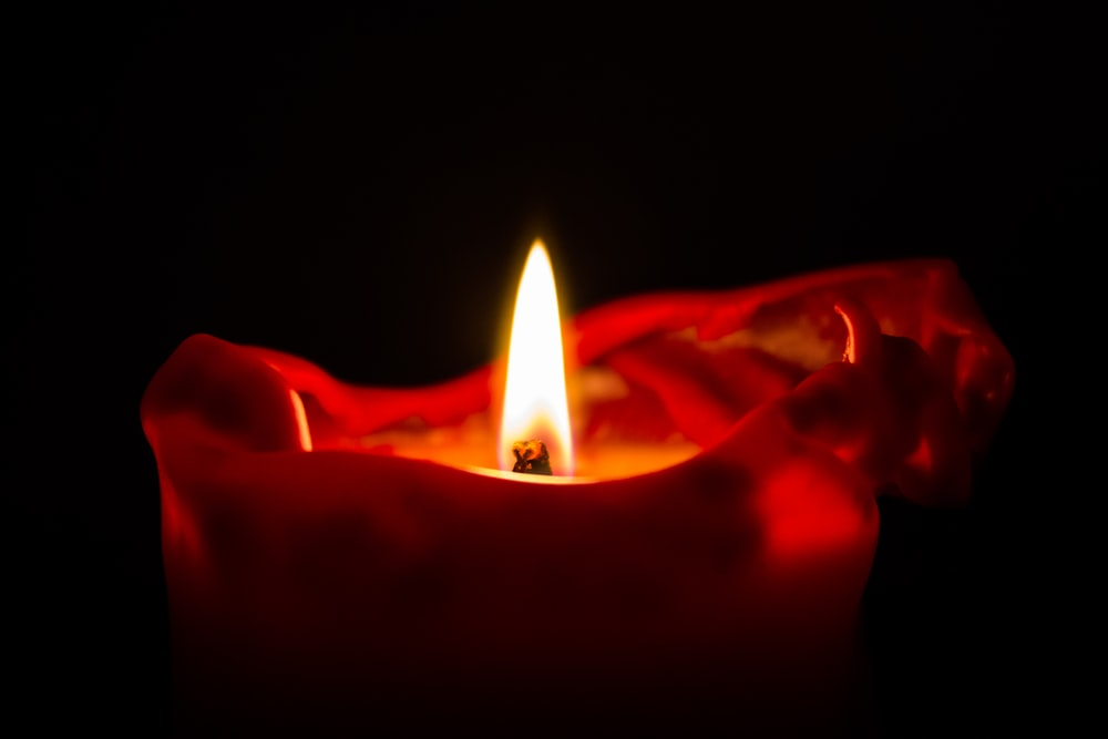 red scented candle