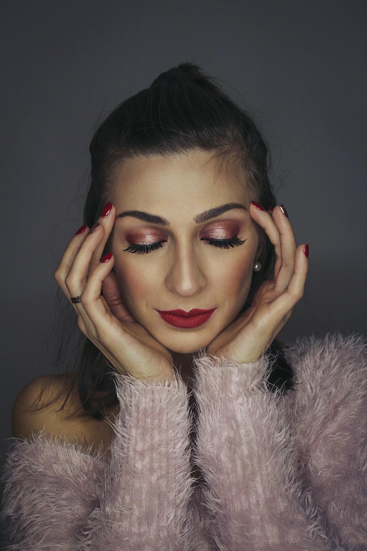 women's pink fur jacket