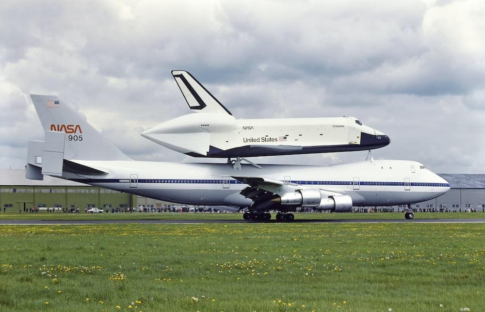 NASA airplane and shuttle