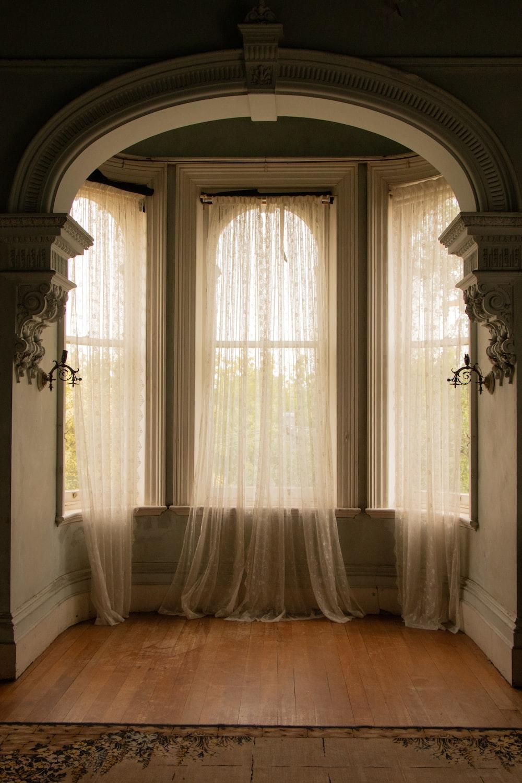 three closed windows