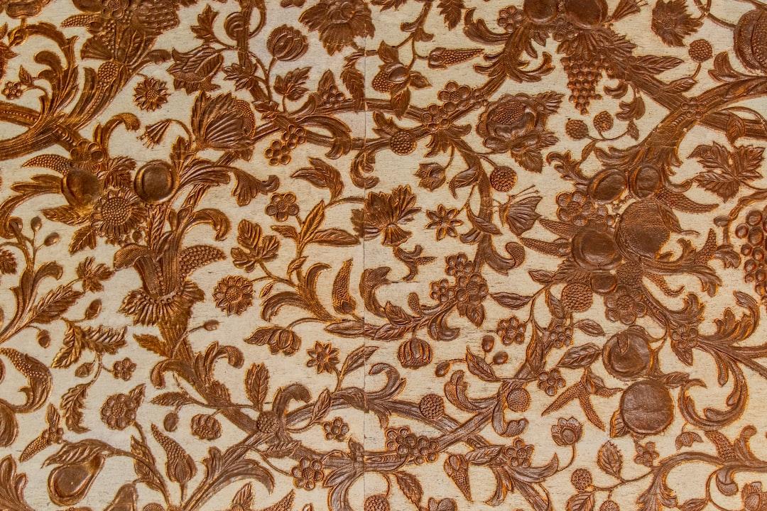 Brown Floral Textile - unsplash