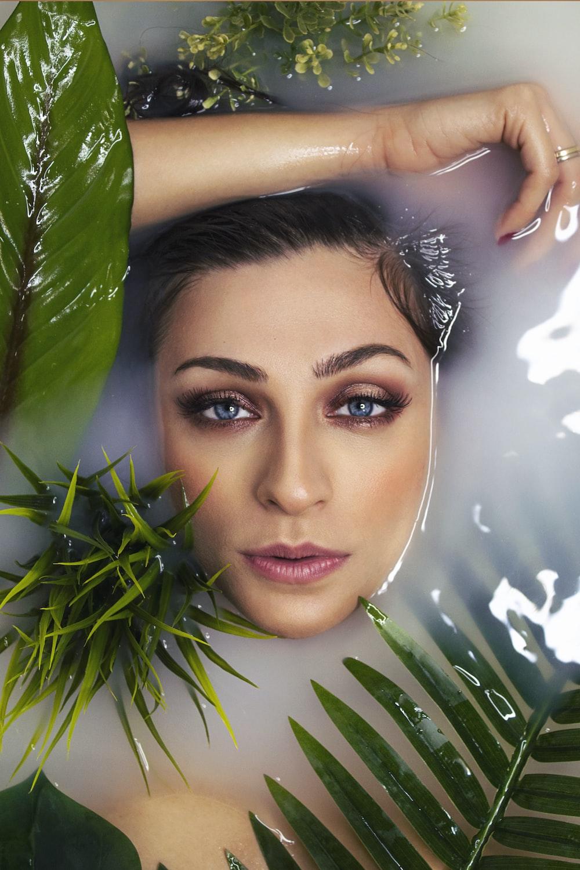 woman in water beauty shot