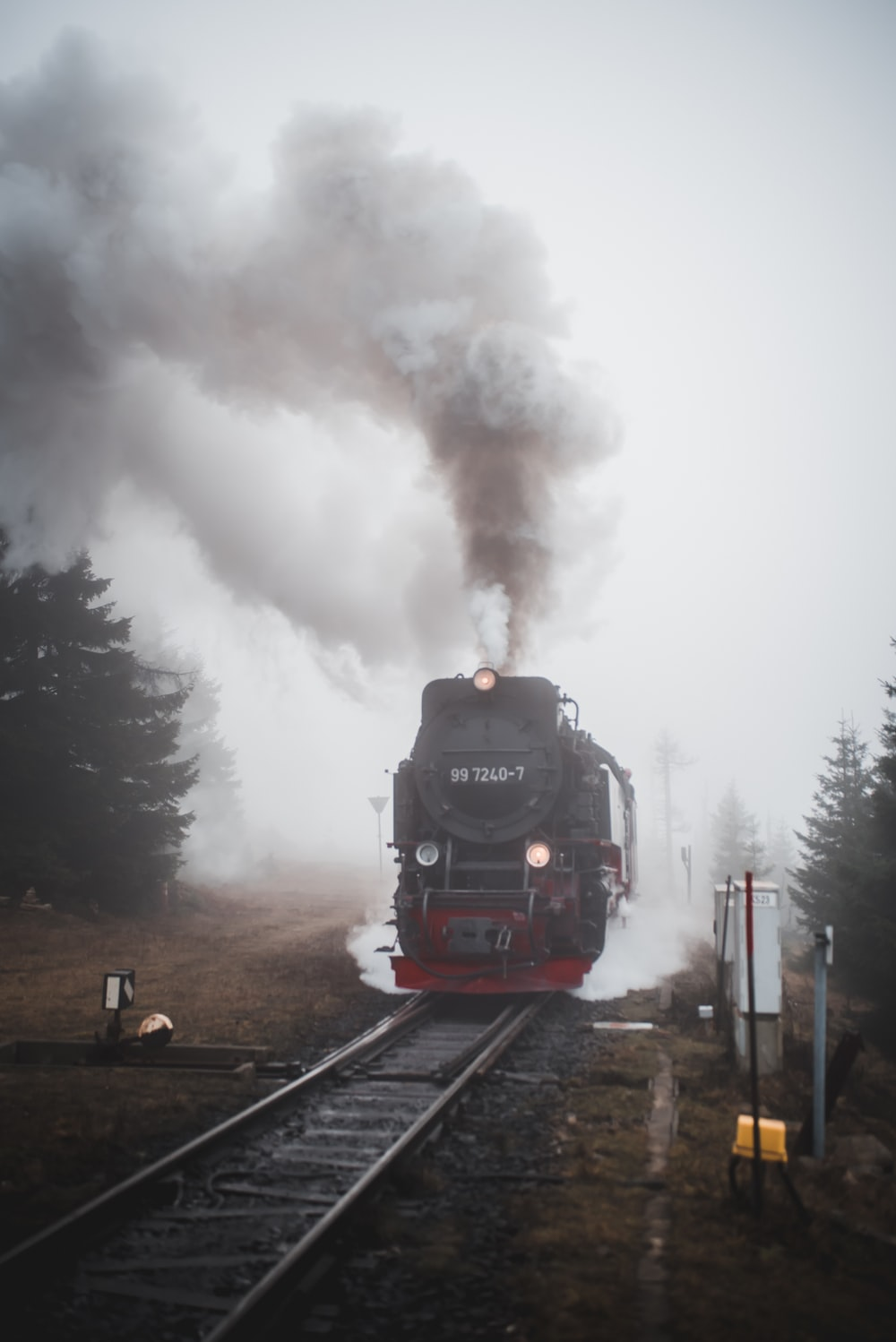 black and red train