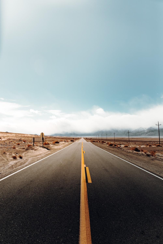 gray road