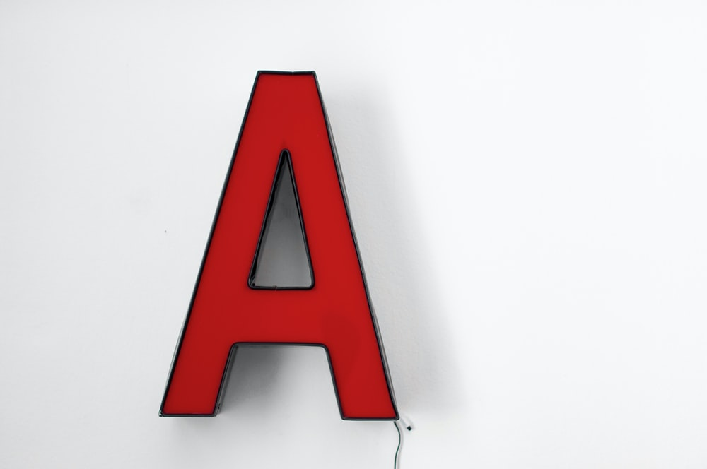 red letter a logo