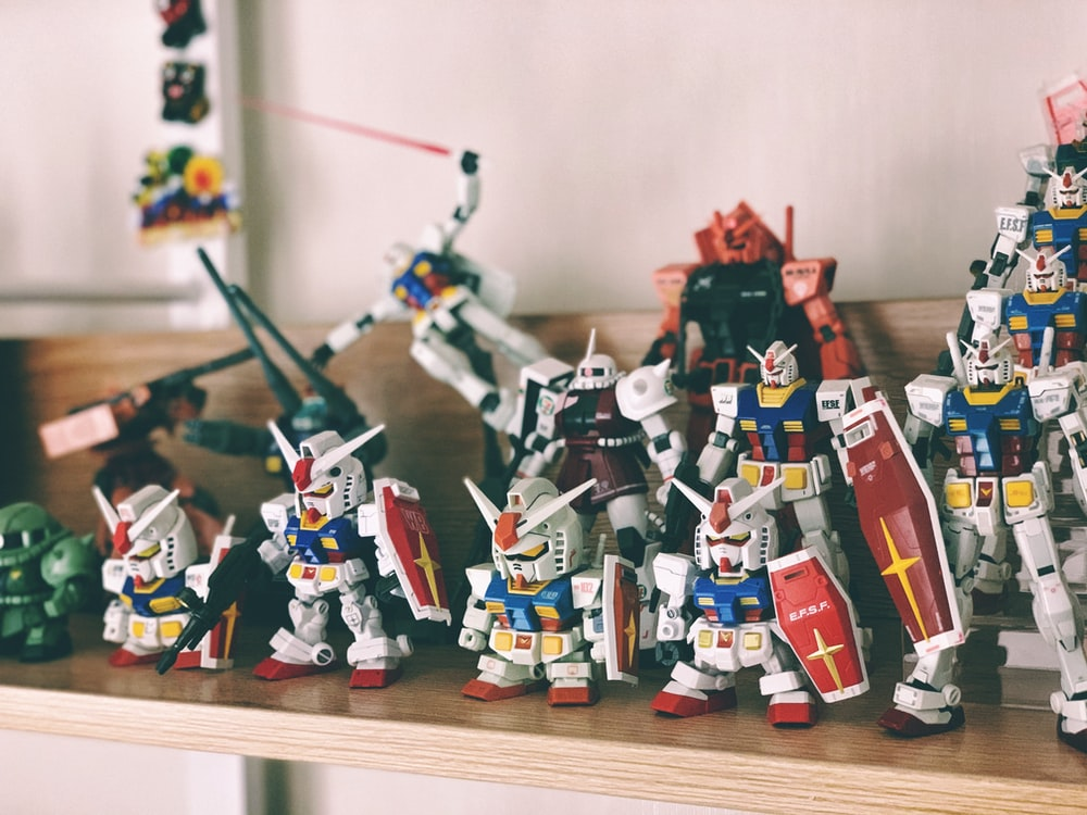 assorted Gundam toy collection lot