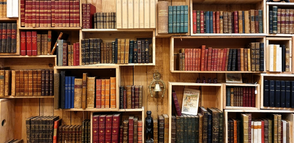 books on the shelf photograph