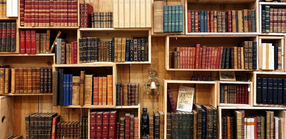 books on the shelf photograph